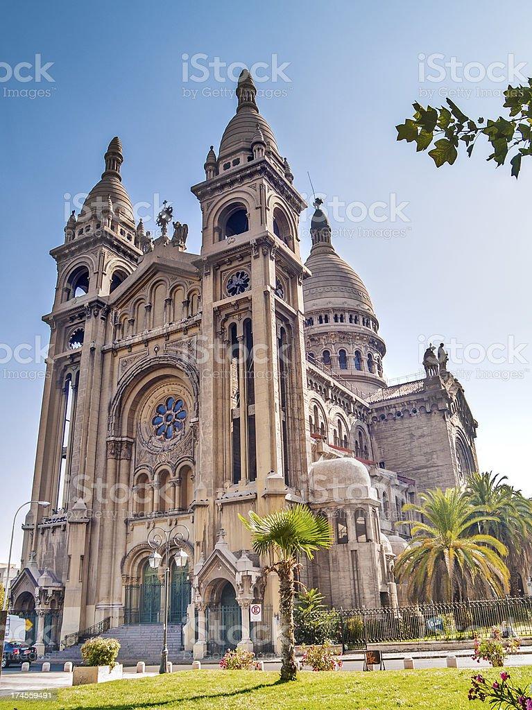 Sacramentinos church in Santiago stock photo