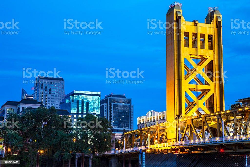 Sacramento Blue Hour stock photo