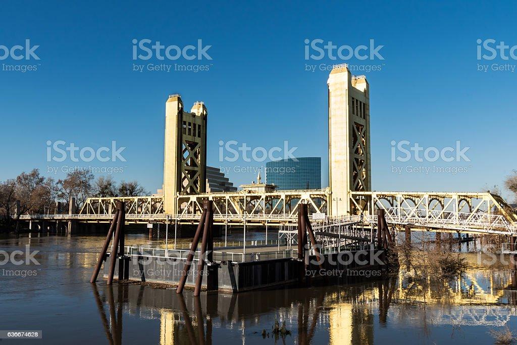 Sacramento bridge stock photo