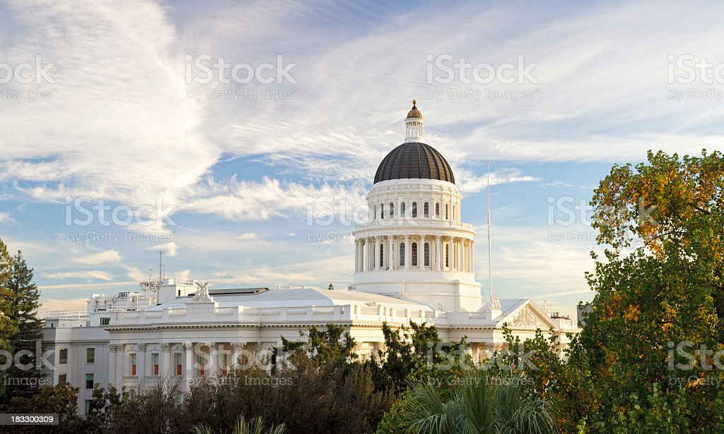 Sacramento, California capitol building stock photo