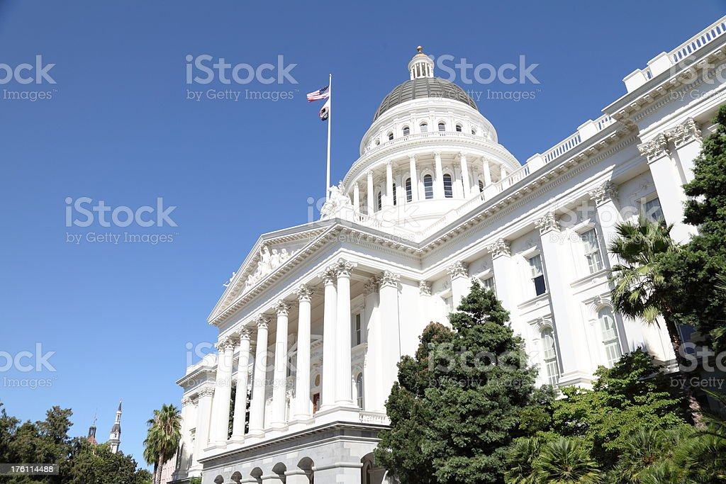 Sacramento Capital Building royalty-free stock photo