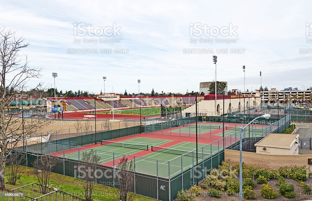 Sacramento City College Sports Facilities royalty-free stock photo