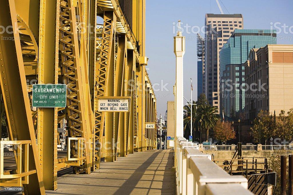 Sacramento City Limit stock photo