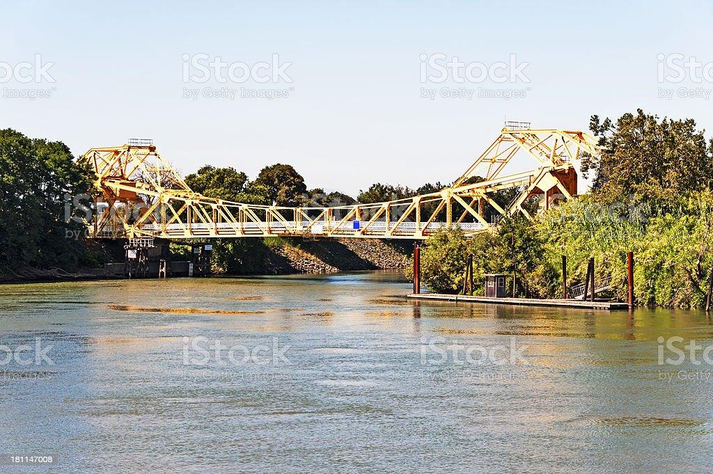 Sacramento Delta Cantilever Bridge stock photo