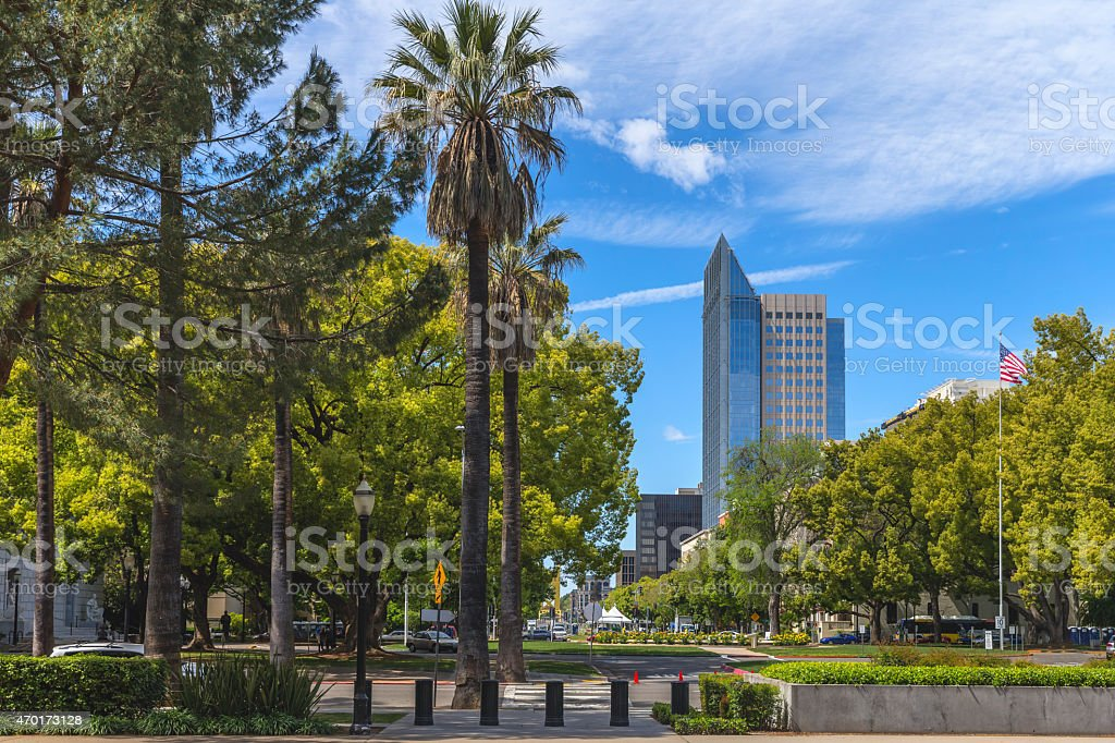 Sacramento Downtown near California State Capitol stock photo