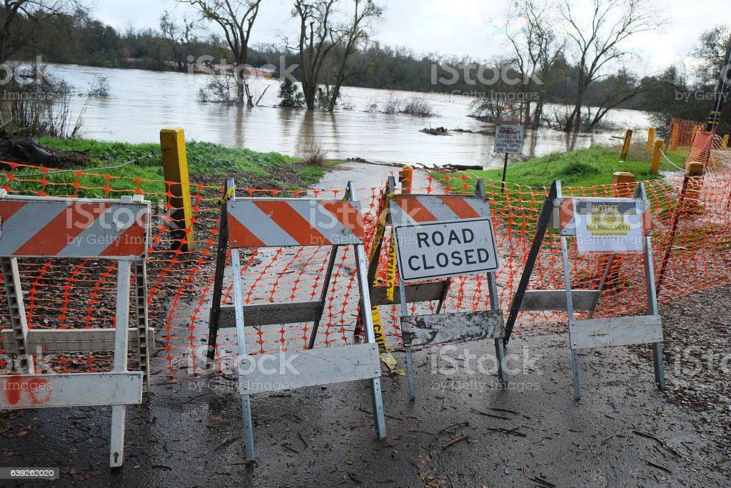 Sacramento Flood 2017 stock photo