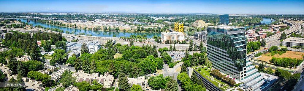 Sacramento Panorama stock photo