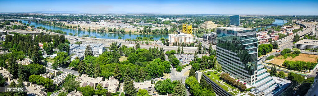 Sacramento Panorama stock photo