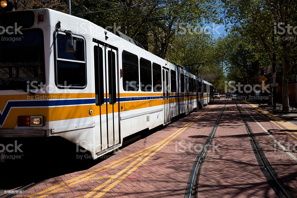 Sacramento Public Transportation stock photo