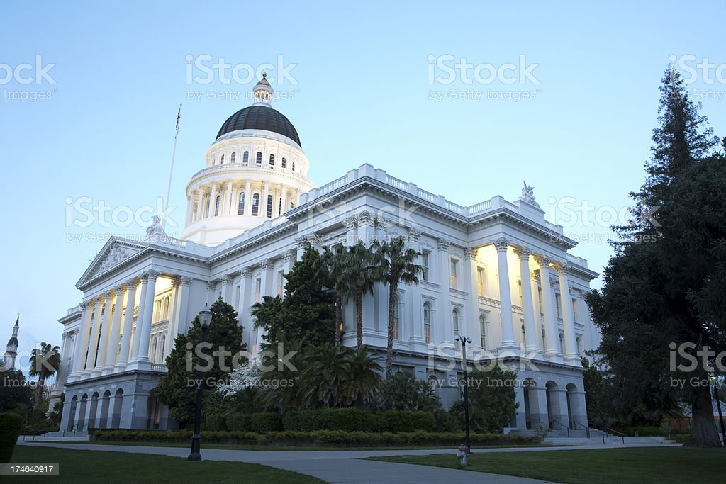 Sacramento State Capitol Building royalty-free stock photo