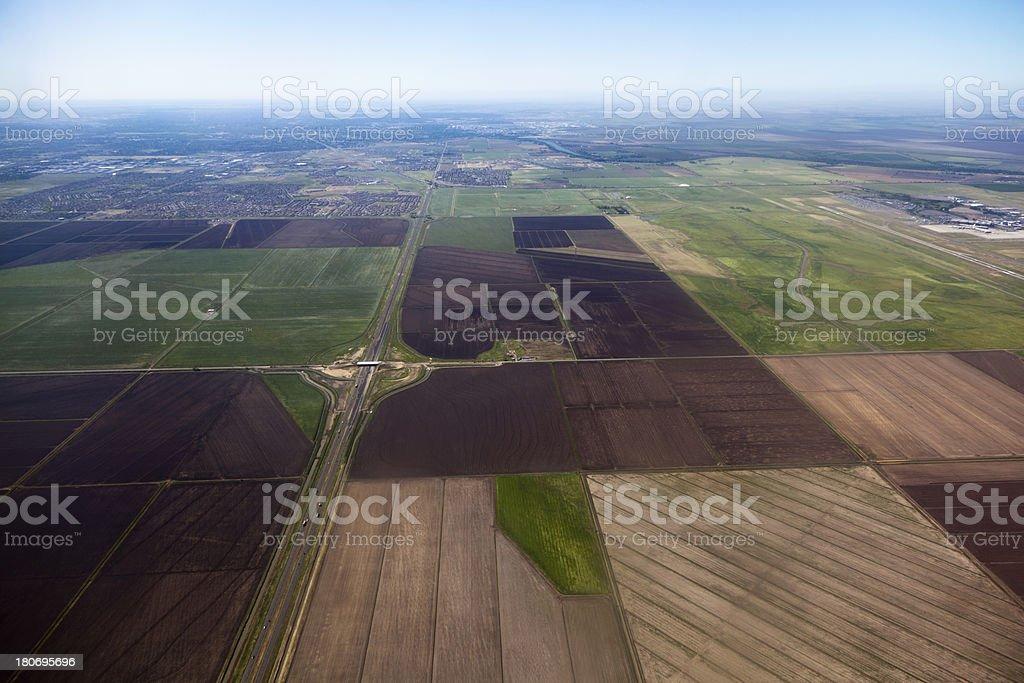 Sacramento Valley Agriculture stock photo