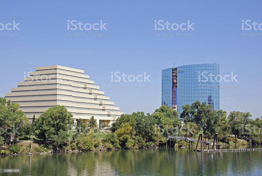 Sacramento Waterfront stock photo