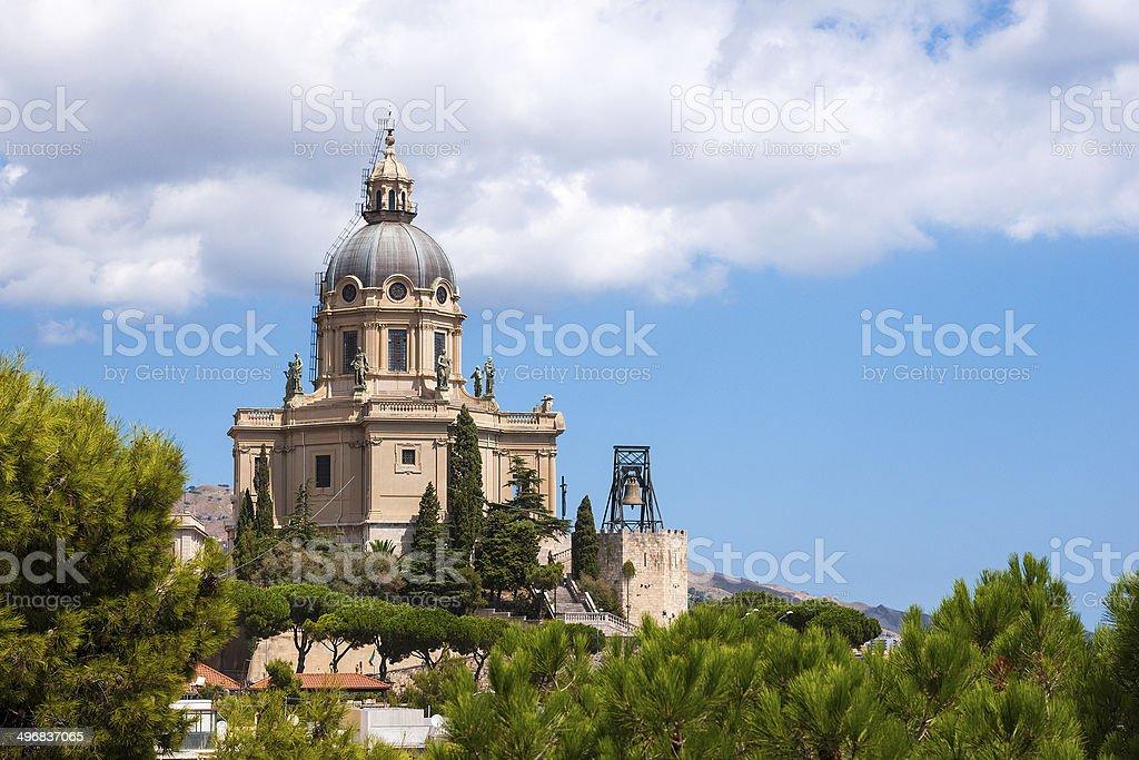 Sacrario di Cristo Re, Messina, Sicily island stock photo