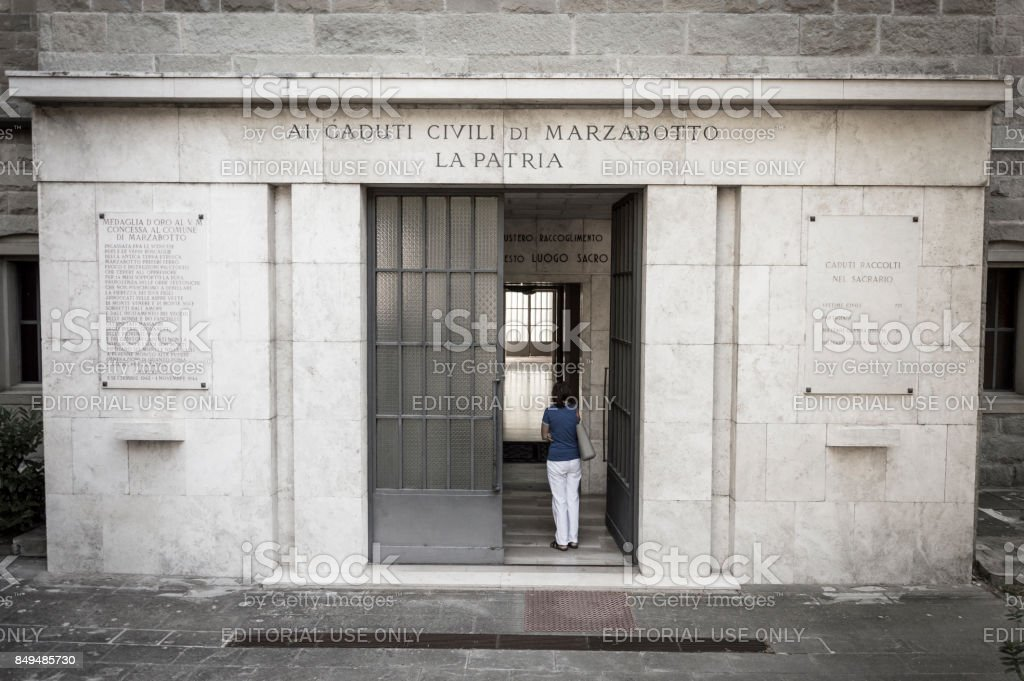 Sacrarium of Second World War victims borned in this town stock photo
