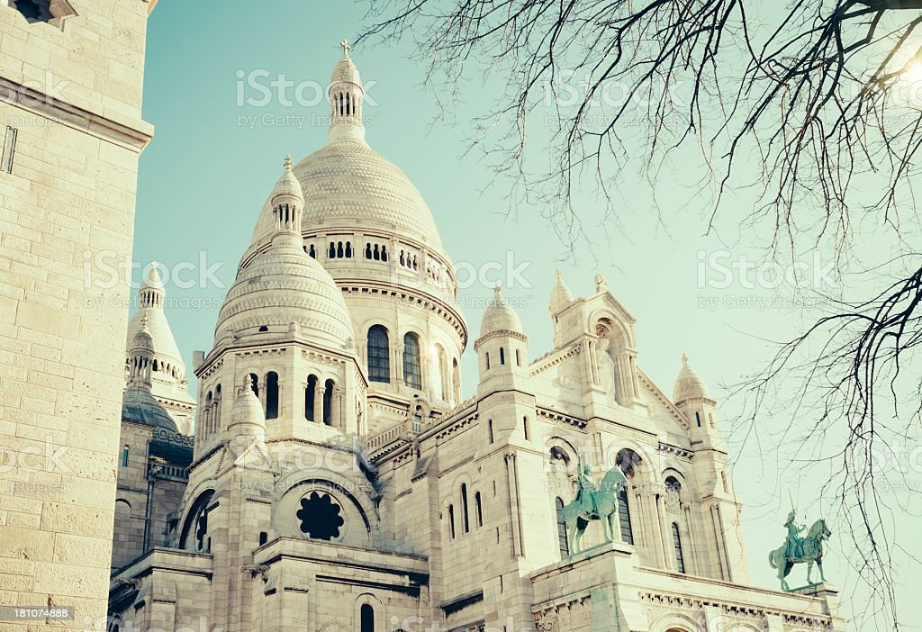 Sacré-Coeur de Montmartre in Paris royalty-free stock photo