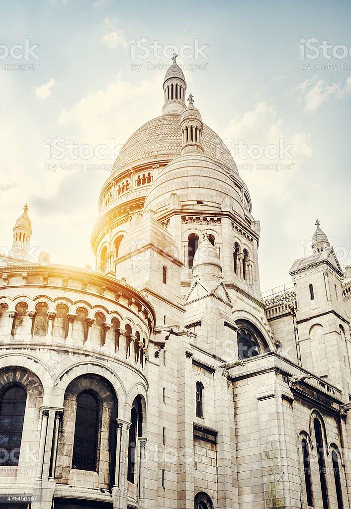 Sacré-Coeur de Montmartre, Paris stock photo
