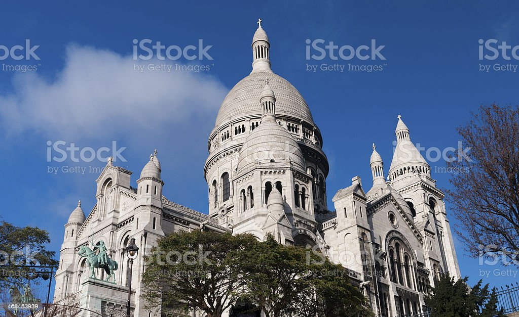 Sacre Coeur Basilica on a clear day royalty-free stock photo