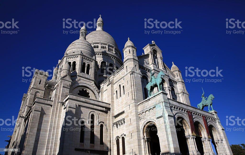 Sacre Coeur Basilica on Montmartre, Paris stock photo