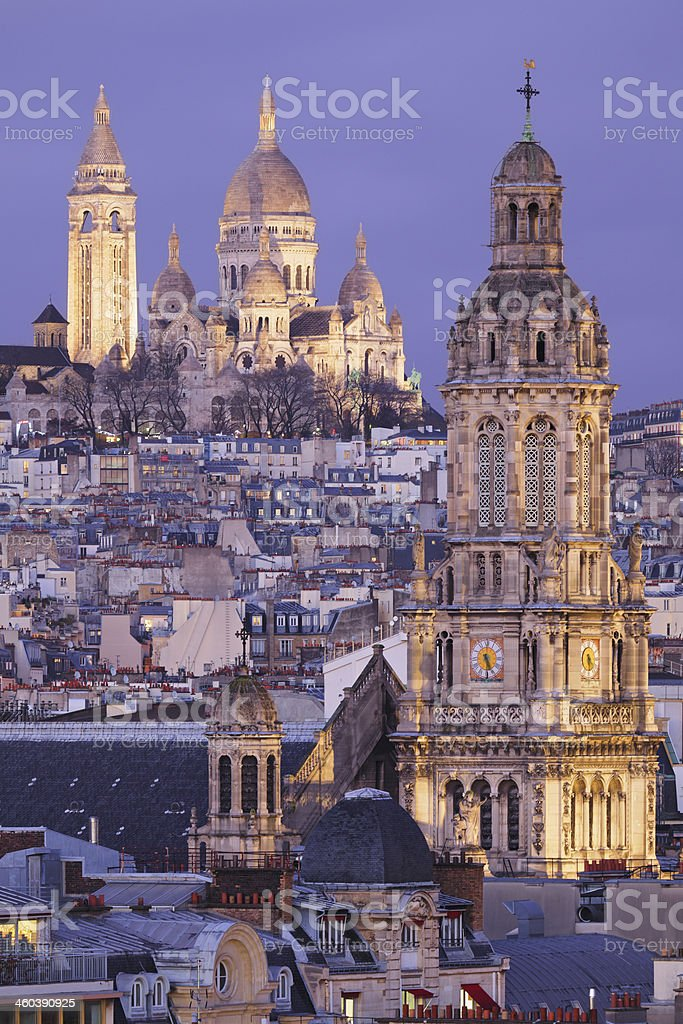 Sacre Coeur Basilica - Paris royalty-free stock photo