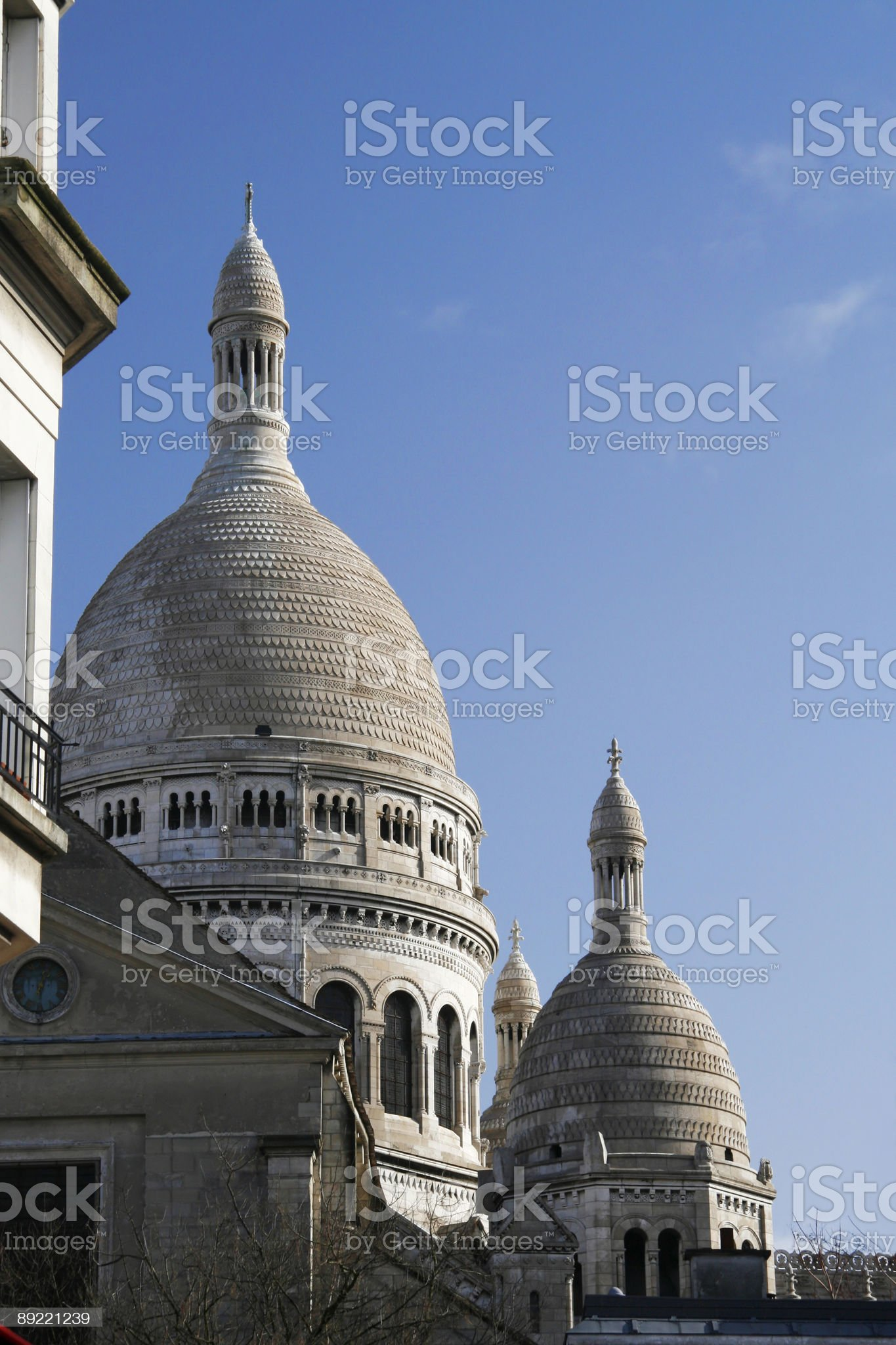 sacre coeur basilica royalty-free stock photo