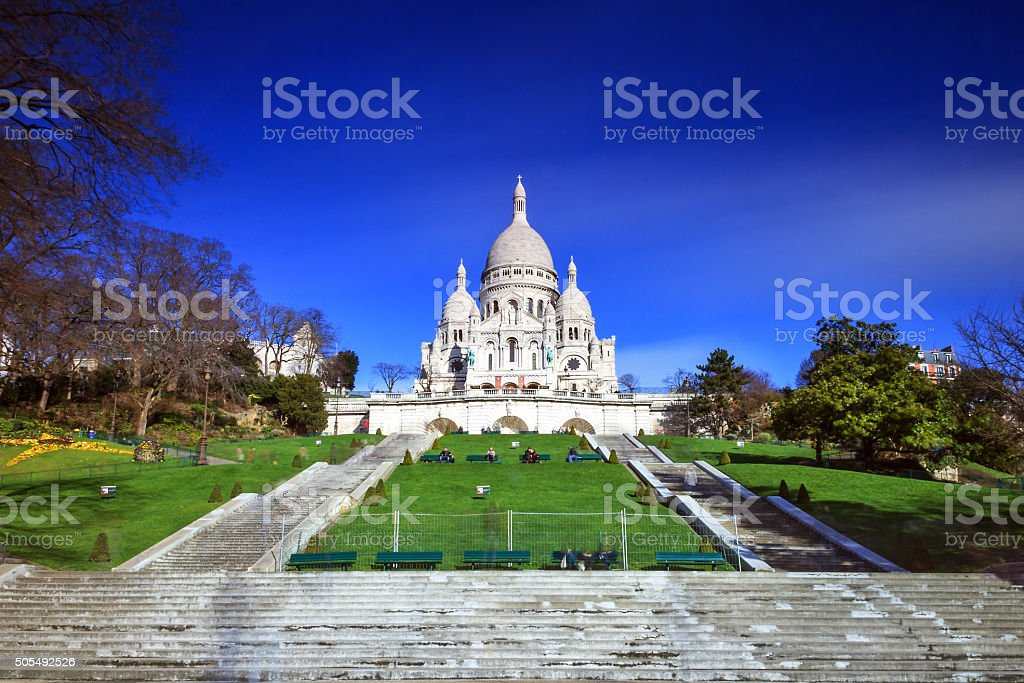 Sacre Coeur exposure stock photo