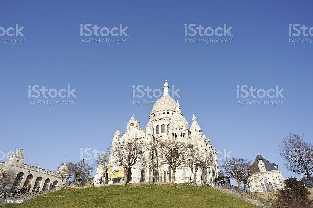 Sacre Coeur in Montmartre Paris France stock photo