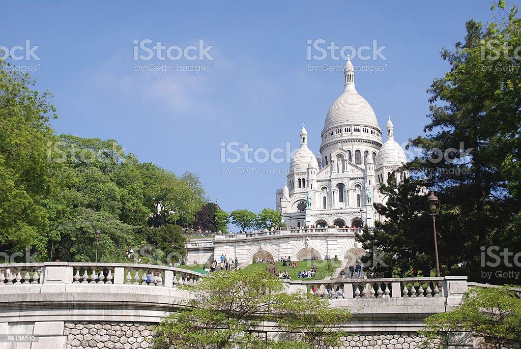 Sacre Coeur in Paris stock photo