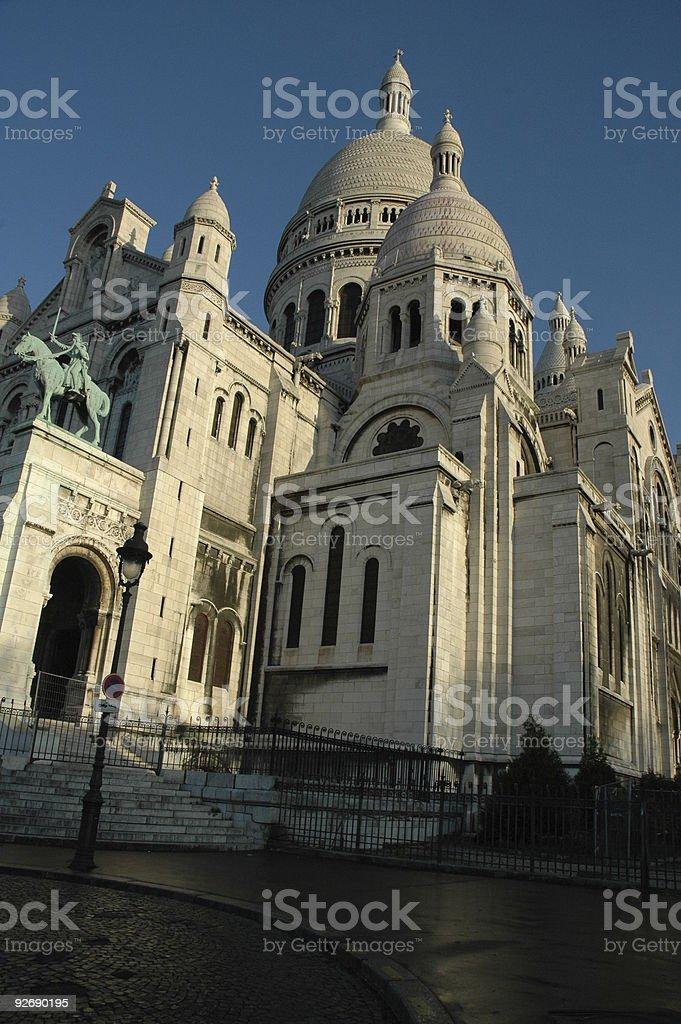 Sacre Coeur, Montmartre, Paris, France. stock photo