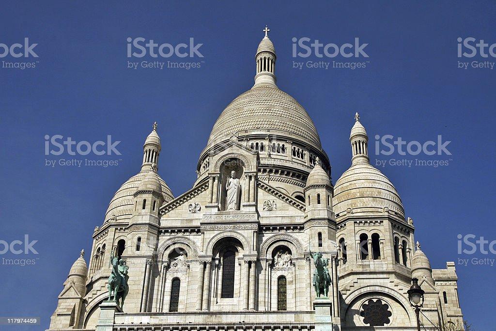 Sacre Cour Basilica, Paris royalty-free stock photo