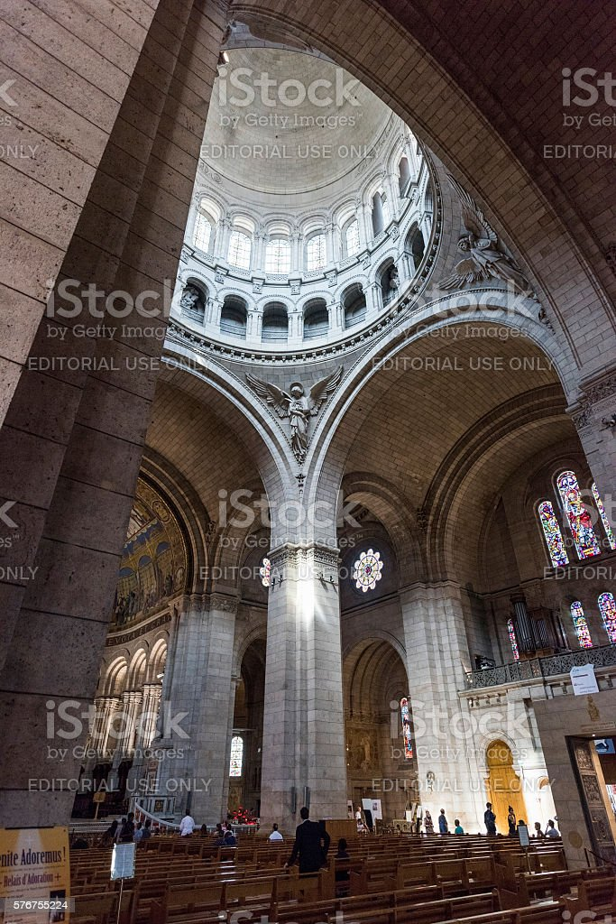 Sacre-Coeur Basilica in Paris, France stock photo