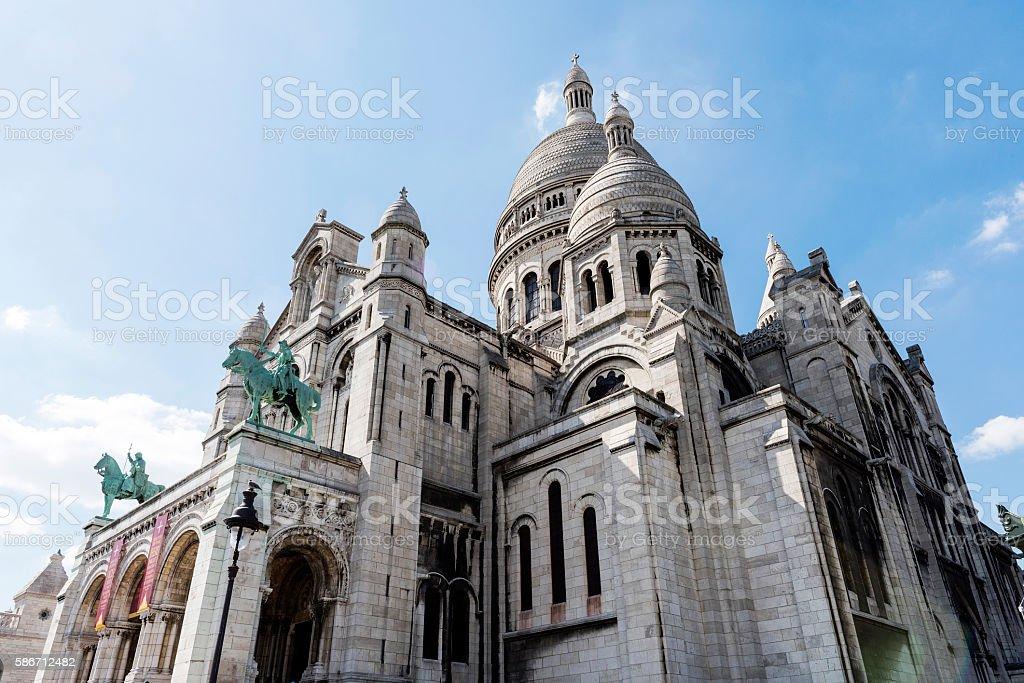 Sacre-Coeur Basilica on Montmartre, Paris, France stock photo