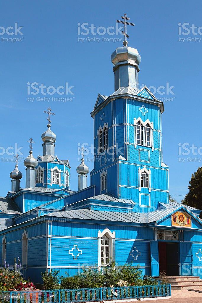 Sacred Avraamiyevsky church. Bulgar, Russia stock photo