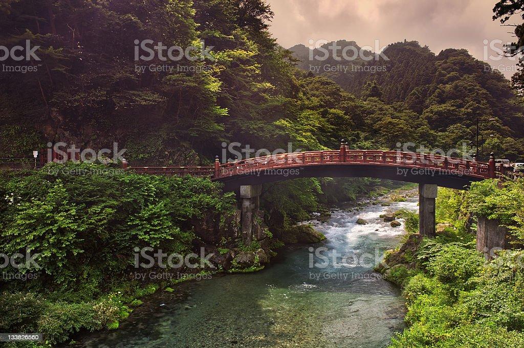 Sacred bridge Shinkyo stock photo