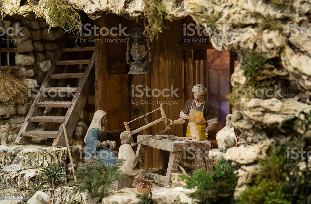 sacred family stock photo