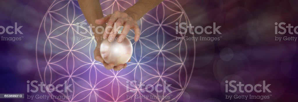 Sacred Geometry and Crystal Ball Scrying stock photo