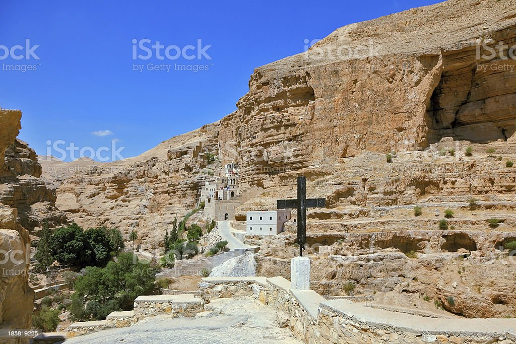 Sacred George Hozevit's well-known monastery stock photo
