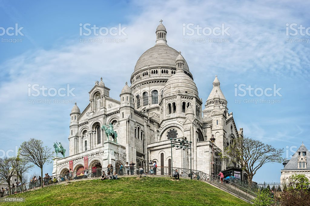Sacred Heart (Sacre-Coeur) basilica in Montmartre, Paris stock photo