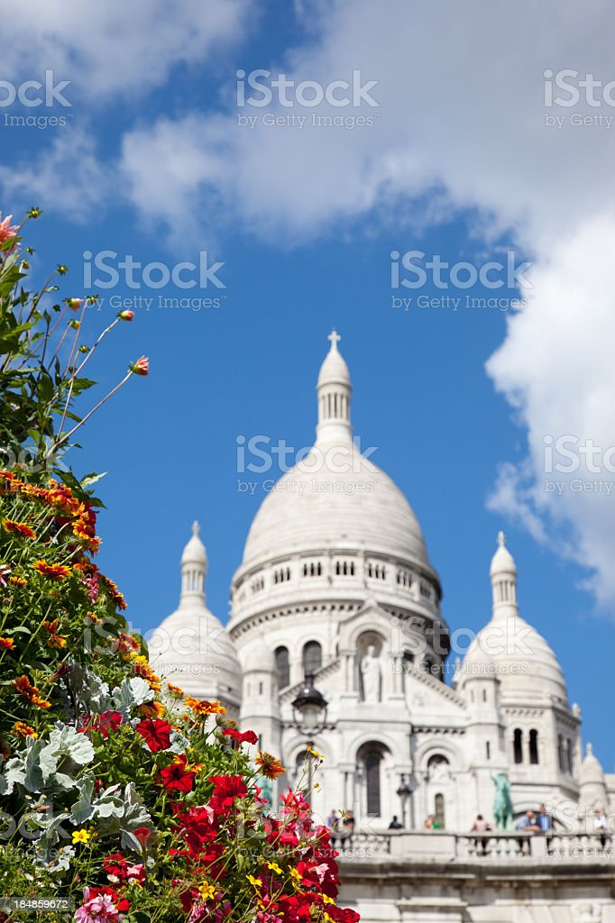 Sacred Heart Basilica of Montmartre royalty-free stock photo