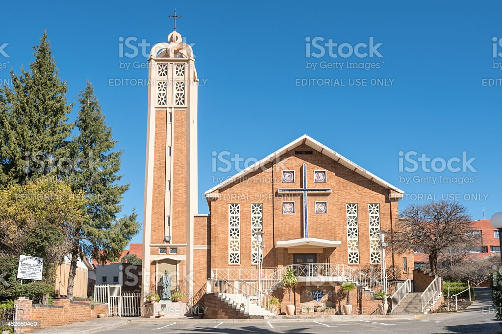 Sacred Heart Cathedral Catholic Church in Bloemfontein stock photo