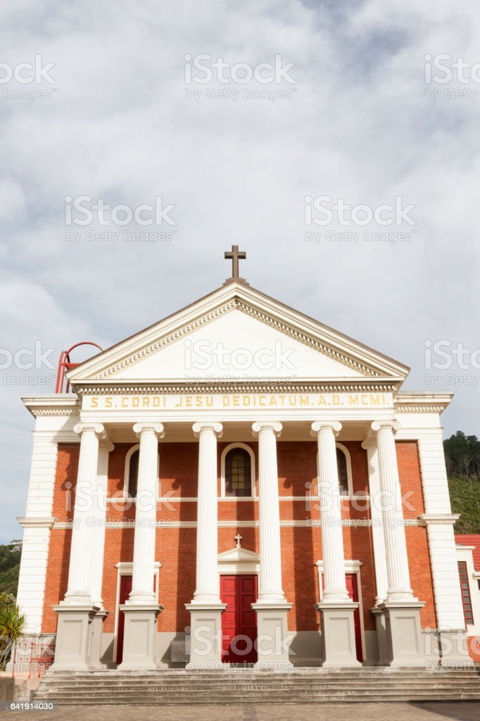 Sacred Heart Cathedral in Wellington, New Zealand stock photo