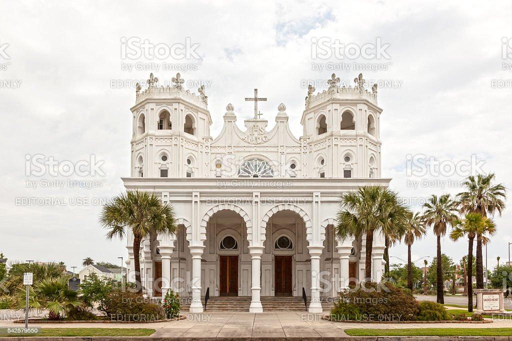 Sacred Heart Church in Galveston, Texas stock photo