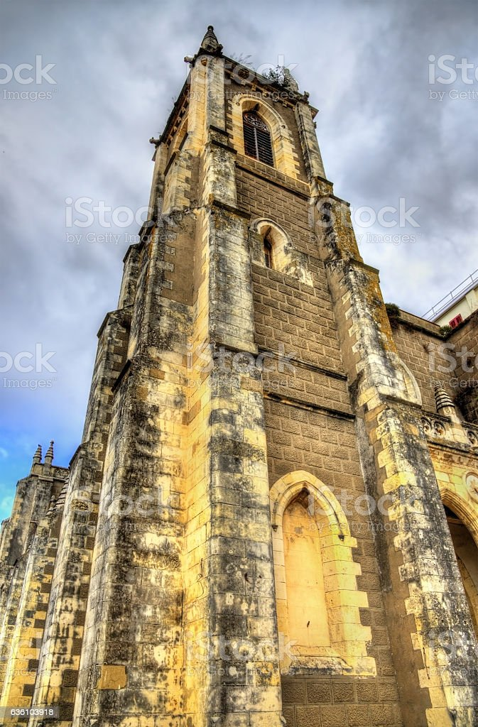 Sacred Heart Church in Gibraltar stock photo