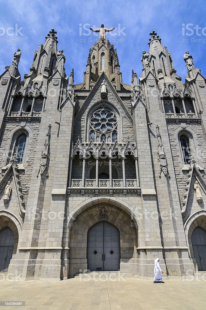 Sacred Heart Church Temple de Sagrat Cor in Barcelona stock photo