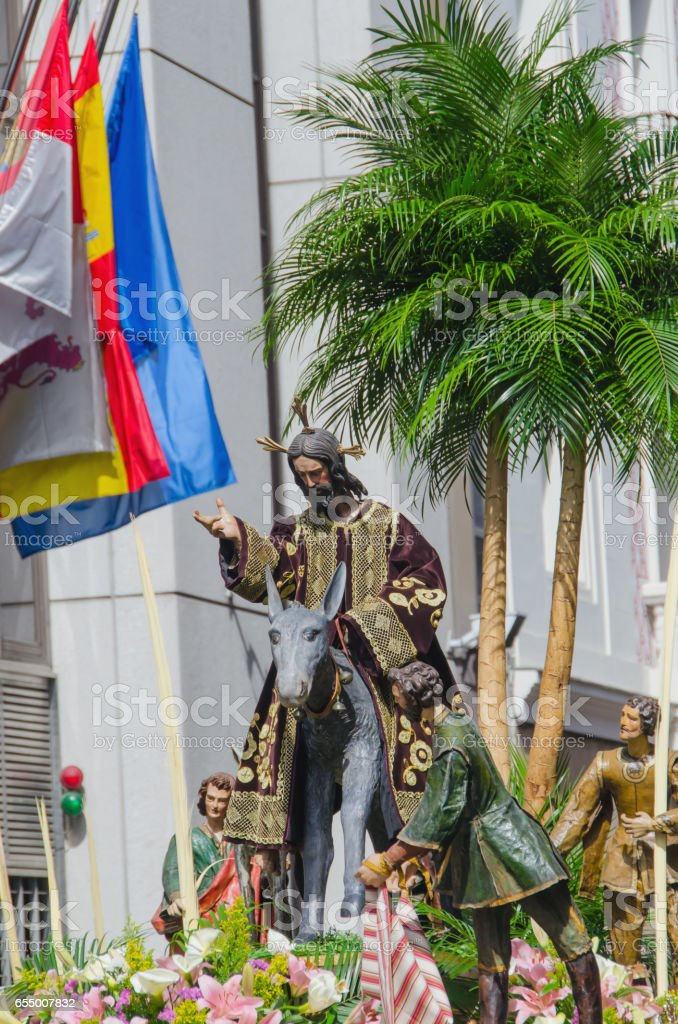 Sacred imagery in Valladolid stock photo