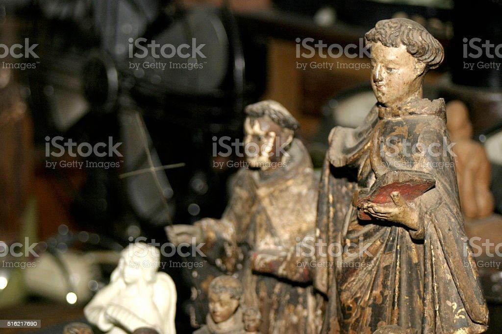Imagens sacras representando santos da igreja católica stock photo