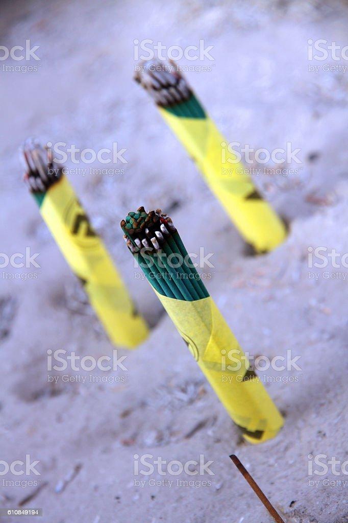 Sacred Incense stock photo