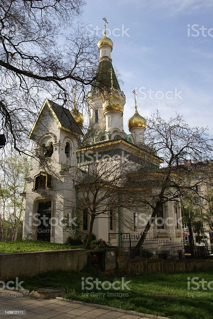 Sacred Nikolay's temple in Sofia royalty-free stock photo