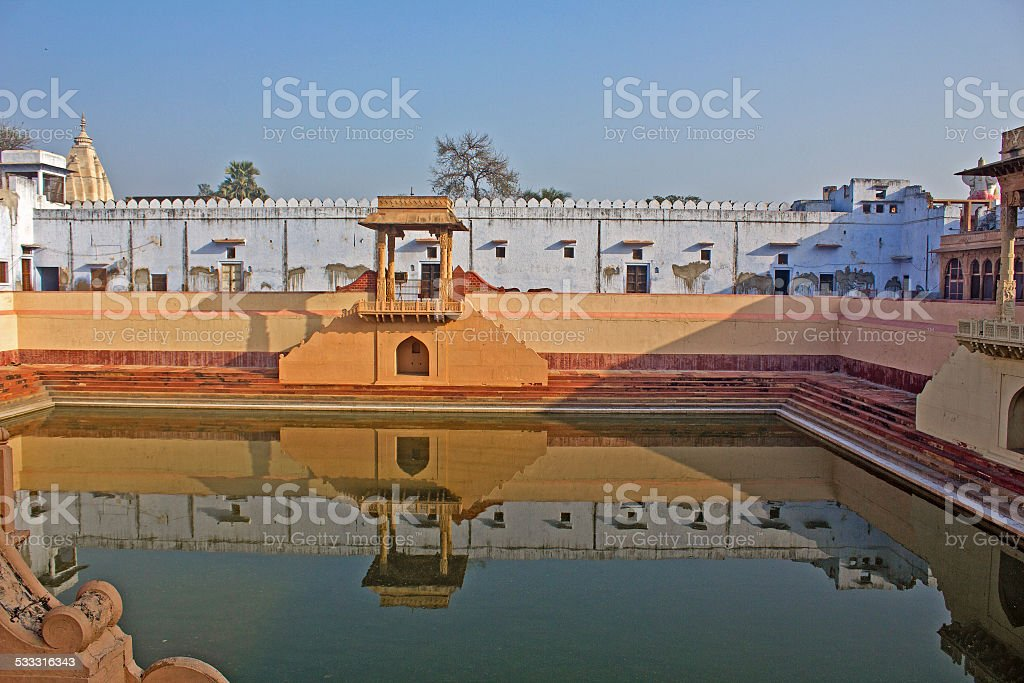 Sacred pond stock photo