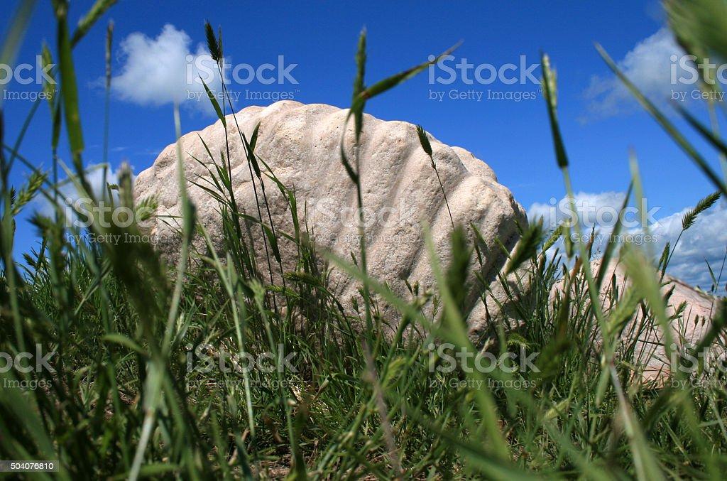 Sacred Ribstones Site stock photo