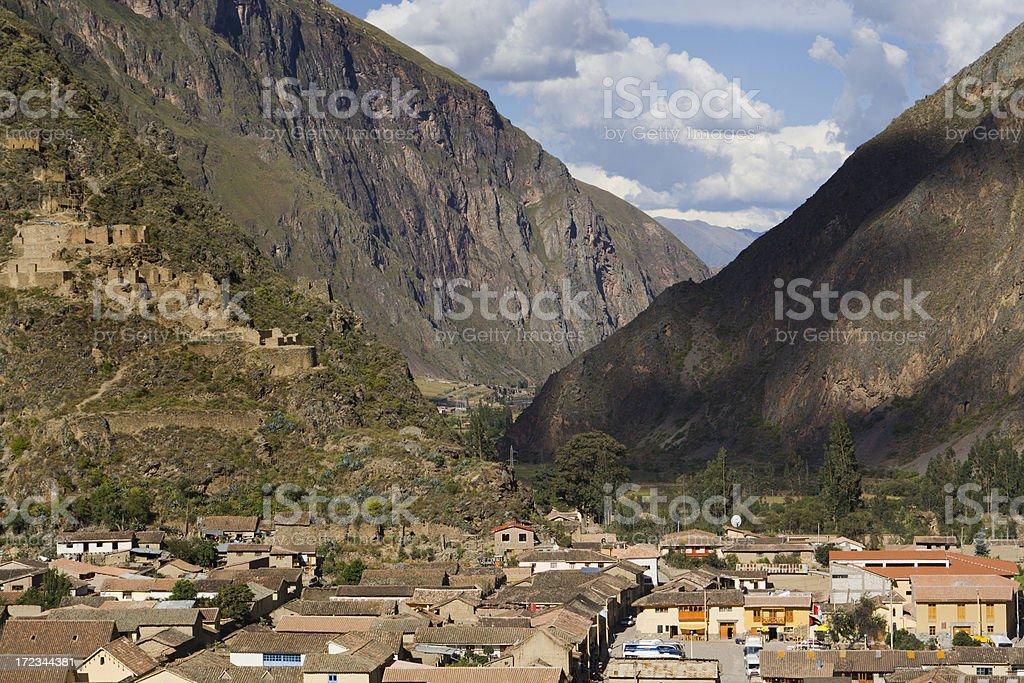 Sacred Valley Inca Village royalty-free stock photo
